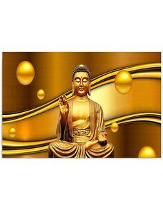 Tableau GOLDEN BUDDHA imprimé sur bois - par Feeby