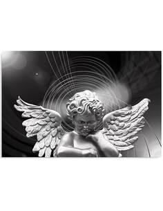 Tableau ARGENT ANGE imprimé sur bois - par Feeby