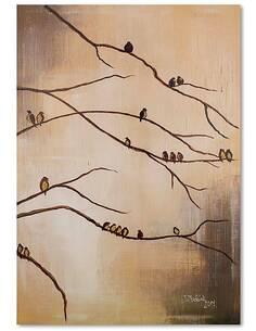 Tableau OISEAUX SUR LES BRANCHES imprimé sur bois - par Feeby
