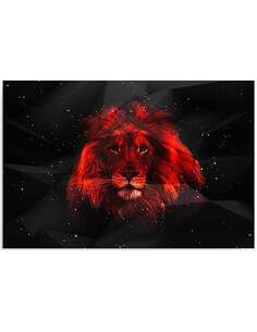 Tableau LION DANS L'OBSCURITÉ imprimé sur bois - par Feeby