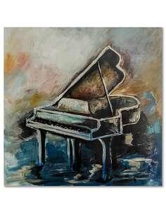 Tableau PIANO imprimé sur bois - par Feeby