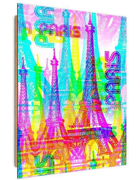 Tableau PARIS 5 imprimé sur bois - par Feeby