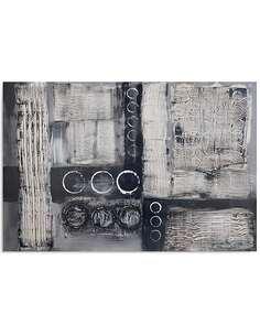 Tableau GRIS ABSTRACTION imprimé sur toile - par Feeby