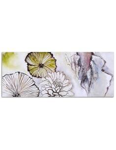 Tableau FLEURS - ABSTRACTION - PANORAMA imprimé sur toile - par Feeby