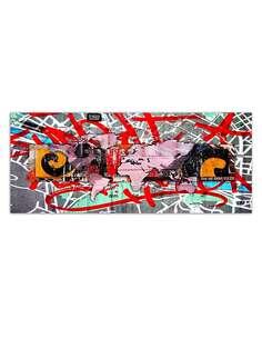 Tableau CARTE DE GRAFFITI MONDE imprimé sur toile - par Feeby