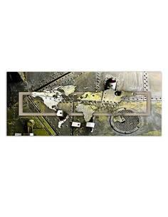 Tableau CARTE DE LA WORLD STEEL imprimé sur toile - par Feeby
