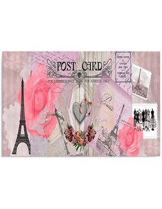 Tableau CARTE POSTALE DE PARIS 1 imprimé sur toile - par Feeby