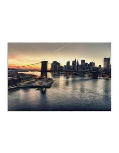 Tableau PONT DE BROOKLYN À NEW YORK imprimé sur toile - par Feeby