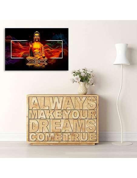 Tableau GOLDEN BUDDHA 2 imprimé sur toile - par Feeby