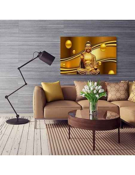 Tableau GOLDEN BUDDHA imprimé sur toile - par Feeby