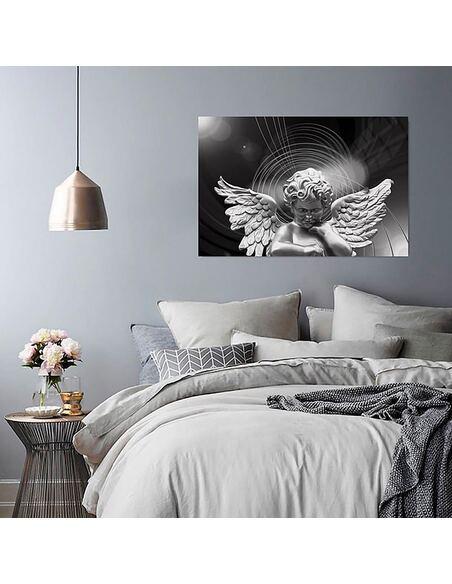 Tableau ARGENT ANGE imprimé sur toile - par Feeby