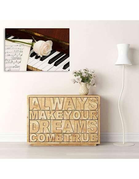 Tableau PIANO imprimé sur toile - par Feeby