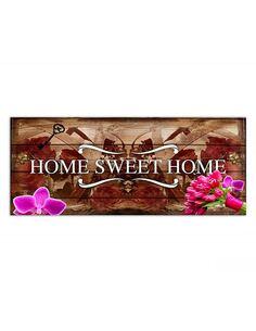 Tableau HOME SWEET HOME EN BRONZE imprimé sur toile - par Feeby