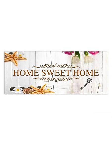 Tableau HOME SWEET HOME AVEC BIELI imprimé sur toile - par Feeby