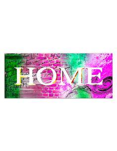 Tableau HOME 2 imprimé sur toile - par Feeby