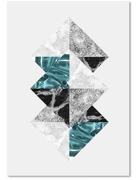 Tableau ABSTRACTION 16 imprimé sur toile - par Feeby