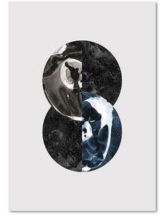 Tableau ABSTRACTION 15 imprimé sur toile - par Feeby