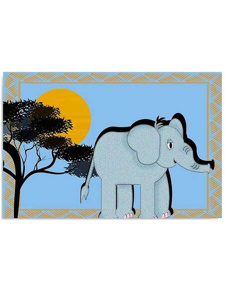 Tableau ÉLÉPHANT D'AFRIQUE imprimé sur toile - par Feeby