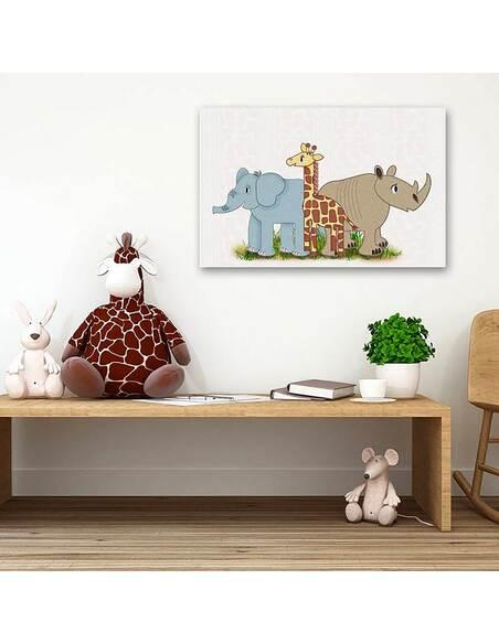 Tableau AMIS AFRICAINS imprimé sur toile - par Feeby