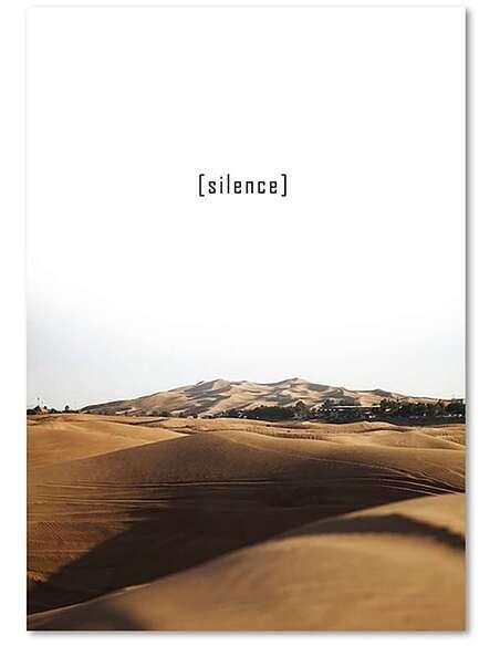 Tableau SILENCE 2 imprimé sur toile - par Feeby