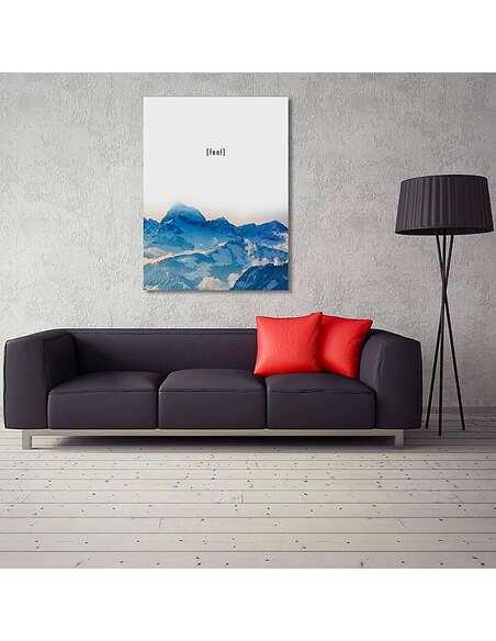 Tableau RESSENTIR imprimé sur toile - par Feeby
