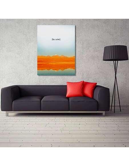 Tableau SOIS CALME imprimé sur toile - par Feeby