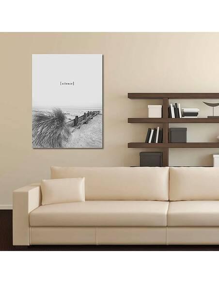 Tableau SILENCE imprimé sur toile - par Feeby