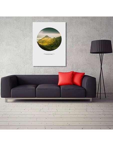 Tableau ESCALADER DES MONTAGNES imprimé sur toile - par Feeby