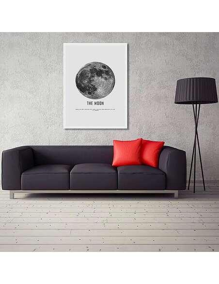 Tableau LA LUNE imprimé sur toile - par Feeby