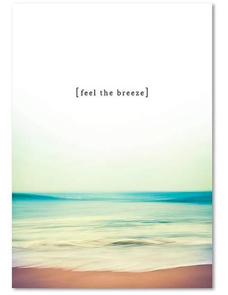 Tableau SENTIR LA BRISE imprimé sur toile - par Feeby