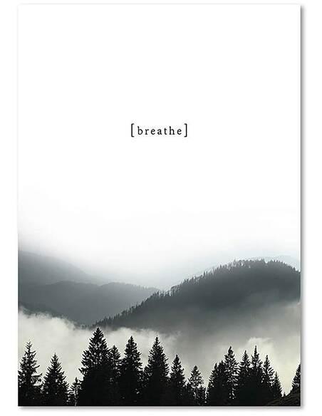 Tableau RESPIRER imprimé sur toile - par Feeby