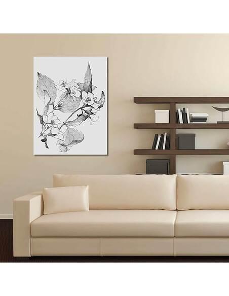 Tableau BRANCHES EN FLEURS imprimé sur toile - par Feeby