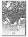 Tableau CARTE DE LONDRES imprimé sur toile - par Feeby