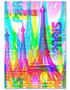 Tableau PARIS 5 imprimé sur toile - par Feeby