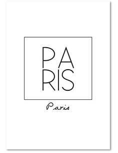 Tableau PARIS 2 imprimé sur toile - par Feeby