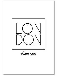 Tableau LONDRES 2 imprimé sur toile - par Feeby