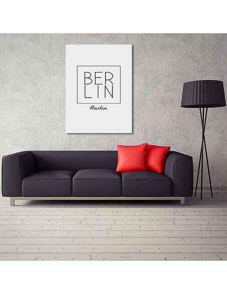 Tableau BERLIN imprimé sur toile - par Feeby