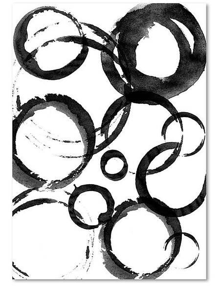 Tableau CERCLES ABSTRAITS imprimé sur toile - par Feeby
