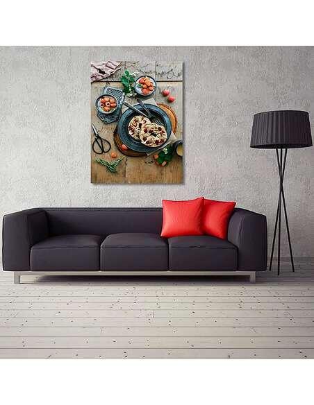 Tableau PLAT DE FRUITS imprimé sur toile - par Feeby