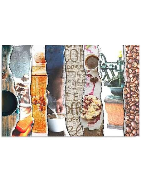 Tableau CAFÉ imprimé sur toile - par Feeby