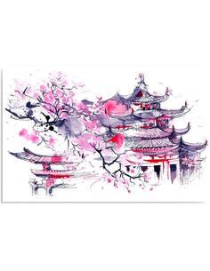 Tableau PAYSAGE JAPONAIS imprimé sur toile - par Feeby
