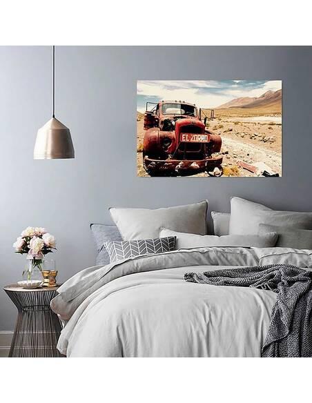Tableau CAR DANS LE DÉSERT imprimé sur toile - par Feeby