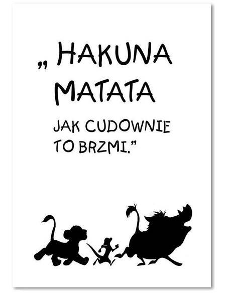 Tableau HAKUNA MATATA 3 imprimé sur toile - par Feeby