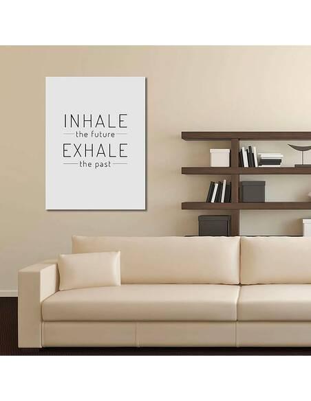 Tableau INHALE EXHALE 2 imprimé sur toile - par Feeby