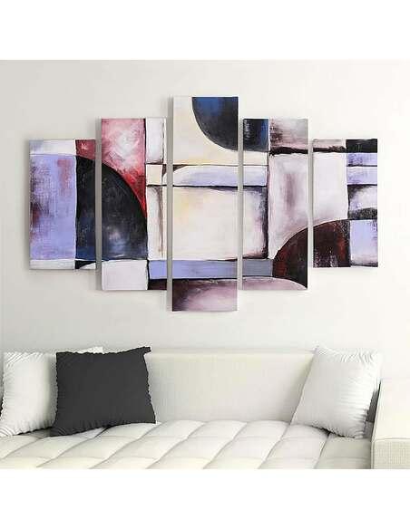 Composition de 5 tableaux 31 ABSTRACTION imprimé sur toile - par Feeby