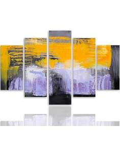 Composition de 5 tableaux 37 ABSTRACTION imprimé sur toile - par Feeby