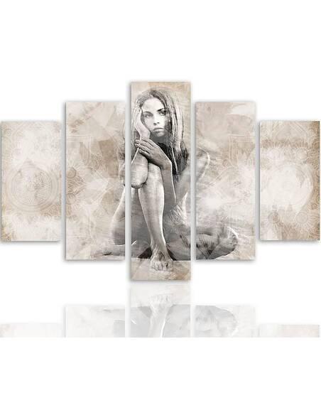 Composition de 5 tableaux LOI imprimé sur toile - par Feeby