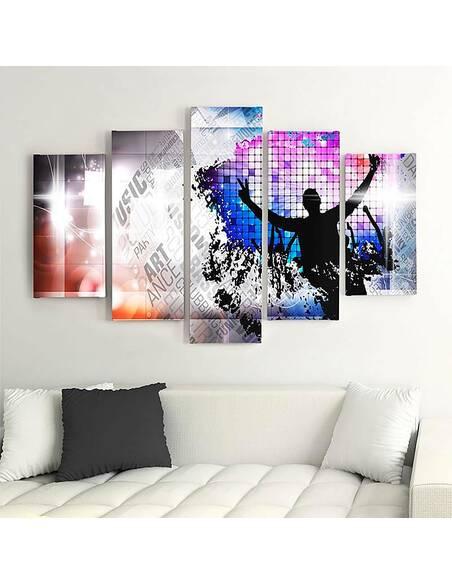 Composition de 5 tableaux DANSE ART imprimé sur toile - par Feeby