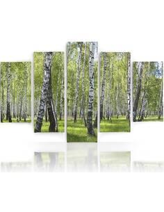 Composition de 5 tableaux BIRCH imprimé sur toile - par Feeby