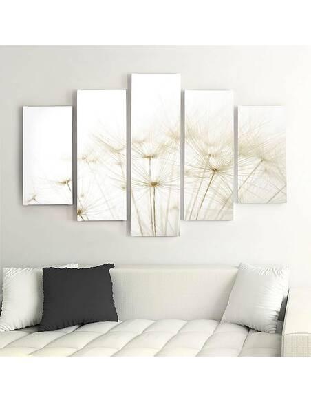 Composition de 5 tableaux DMUCHAWCE imprimé sur toile - par Feeby